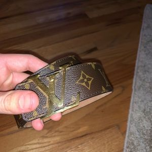 Louis Vuitton Monogram Belt.